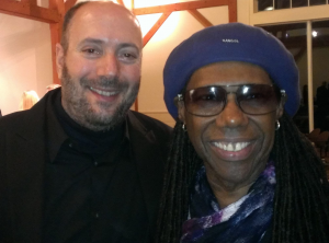 I was on a Fairfield Museum committee headed by Chris Frantz to select the ten best musicians living in the area. Nile Rodgers was one of the ten.